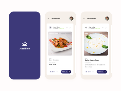 MealTime - Daily menu around you restaurant food ios application design ux ui mobile app dailyui