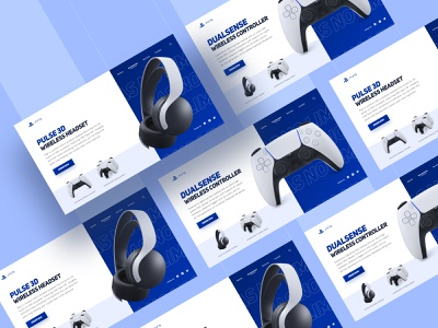 PlayStation 5 Store Web App store website playstation ps5 controller cool monocrome typogaphy modern clean playstation5 ui