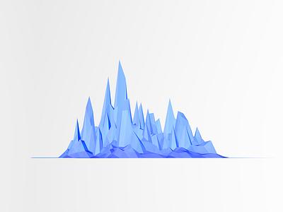 Blue blue 3d cinema4d abstract clean glacier cold simple geometric c4d