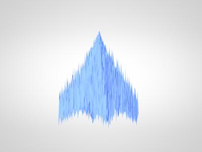 Blue 2 blue 3d cinema4d abstract clean glacier cold simple geometric arrow c4d