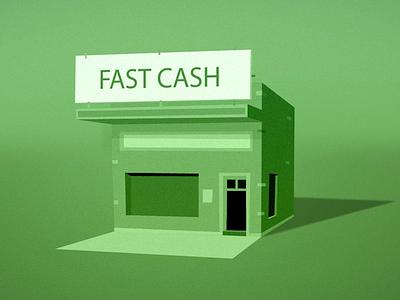 Fast Cash flat flat design green fast cash fast cash building cartoon simple