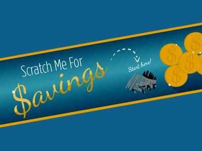 Banner Ad banner ad banner money savings blue yellow gold