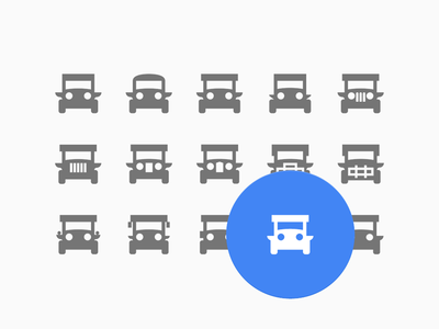 Jeepney Icon figma process iteration material design pinoy commute transportation local jeep jeepney philippine