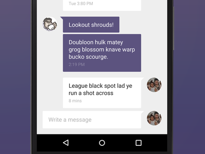 I be workin' on an app fer crew management figma wip android messaging management work material design app