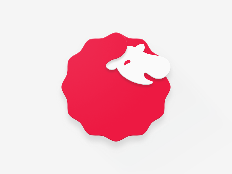Baa, Baa, Red Sheep for Android material design stamp sheep offers icon happy fluffy figma deals bahbah baa animal