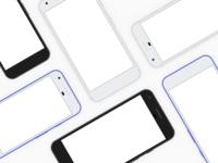 Google Pixel device frames