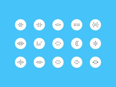 Dot Formations symbols touch holes texture process figma arrangement circles dots digital design