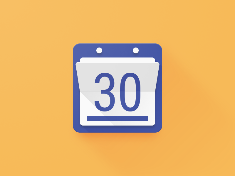 Today Calendar Icon Redesign figma productivity android long shadow pegs underline 30 score crease paper fold material design