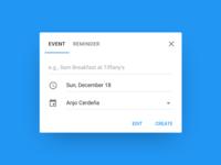 Add an Event Dialog