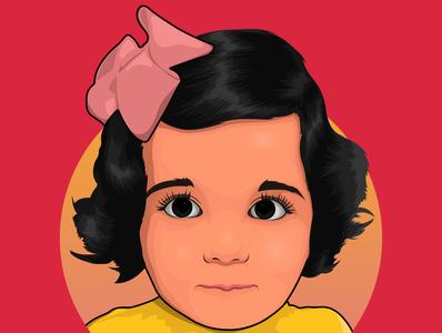 Baby Girl Avatar adobe illustrator fiverr branding logo avatar design vector illustration cartoon vector art vector portrait cartoon portrait