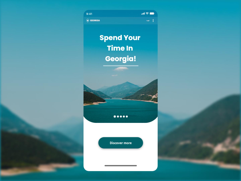 Travel Georgia Mobile app UI ux ui design application mobile
