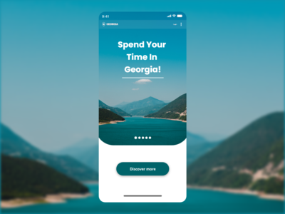 Travel Georgia Mobile app UI