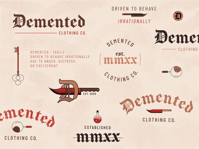 Demented Clothing Branding