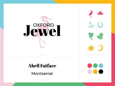 Oxford Jewel Brand Guide logotype color palette antique jewel pattern logo branding