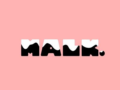 Malk Logo logotype logo type design typeography