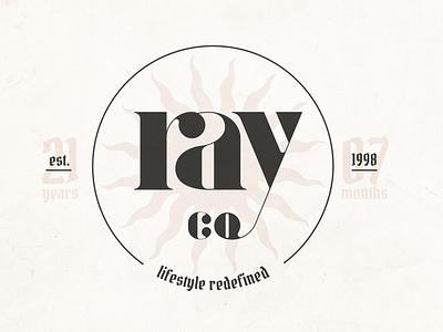 Ray Co. Logo Seal branding logotype seal typeography logo