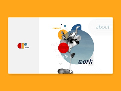 Portfolio Landing Page home page website web design landing page