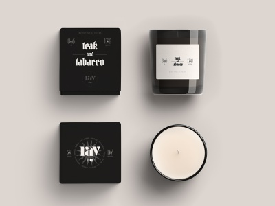 Ray Co. Candle Packaging label design product packaging candle