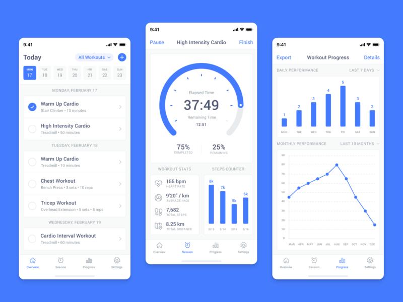 Countdown Timer - Daily UI Challenge #014 ui concept counter calendar iphone timer graph chart challenge daily freebie sketch experience interface user mobile app fitness performance workout