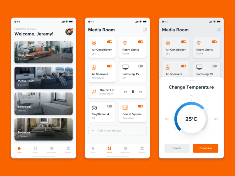 On/Off Switch - Daily UI Challenge #015 daily challenge toggle home smart temperature cards ui ux interface experience mobile app iphone freebie sketch concept simple