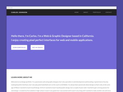One Page Portfolio Template contact logo interface user graphic design web website. theme portfolio page one template