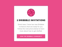 Dribbble Invite Giveaway (Closed)