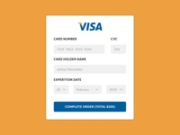Credit Card Payment - Daily UI Challenge #002