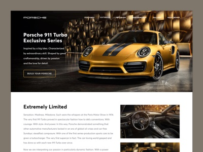 Landing Page - Daily UI Challenge #003 daily ui ux design web mobile app challenge landing page car product