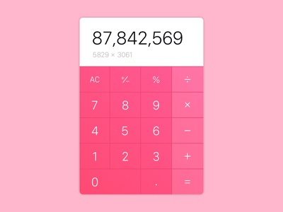 Calculator - Daily UI Challenge #004 calculator minimal simple interface challenge app mobile web design ux ui daily