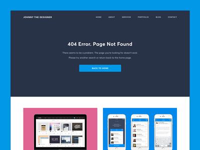 404 Error Page - Daily UI Challenge #008 daily ui ux design web mobile portfolio personal message page error 404