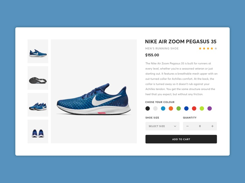 eCommerce Shop - Daily UI Challenge #012 minimal challenge user concept purchase athletic sports fashion shop ecommerce shoe nike simple daily interface ux web ui product card