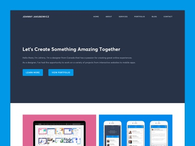 Personal Website - 2019 Update freelance minimal simple colorful update new redesign interface interaction animation webflow web design ux user interface ui website personal portfolio homepage design