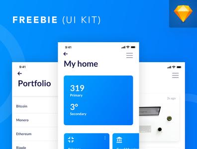 FREEBIE: iOS UI Design in Sketch App white flat design web clean app ui freebie-friday mobile ios freebies frebie
