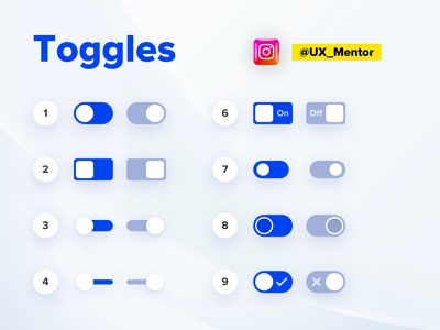 Toggle Components in UI/UX white web clean design website ui app toggl toggle