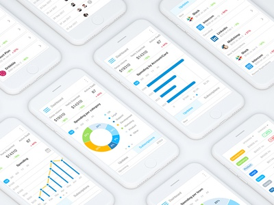 Mobile Dashboard UI finance numbers subs subscriptions visualisation data dash board ux ui dashboard