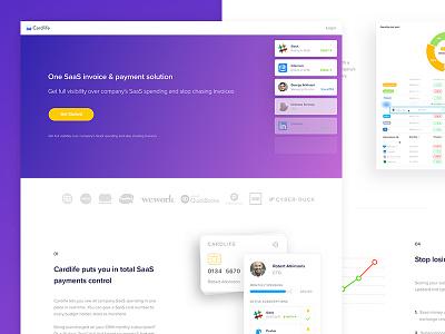 New page web gradient modern minimal clean purple design material price graph website web design