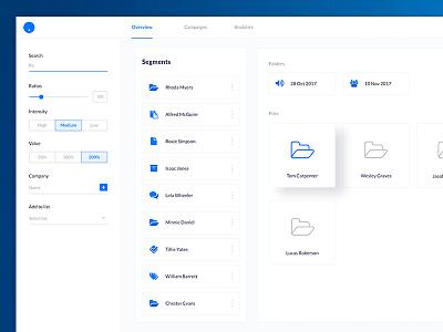 Segments dashboard UI white website web ui sketch iphone ios flat design clean branding app