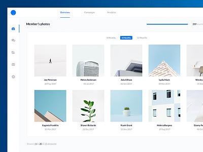 Image Gallery UI Design white website web ui sketch iphone ios flat design clean photoshop app