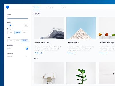 Blog UI Kit white website web ui sketch iphone ios flat design clean branding app