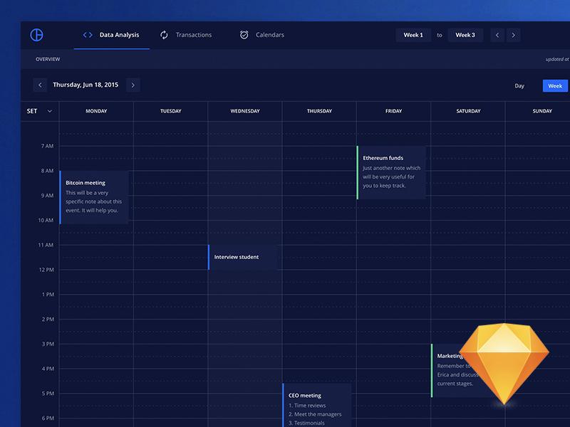 Freebie - Calendar from Sketch And Adobe XD UI Kit
