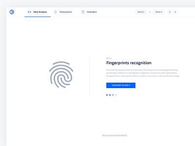 Finger ID Recognition Screen web ux ui mobile flat dashboard design clean branding app material 2d