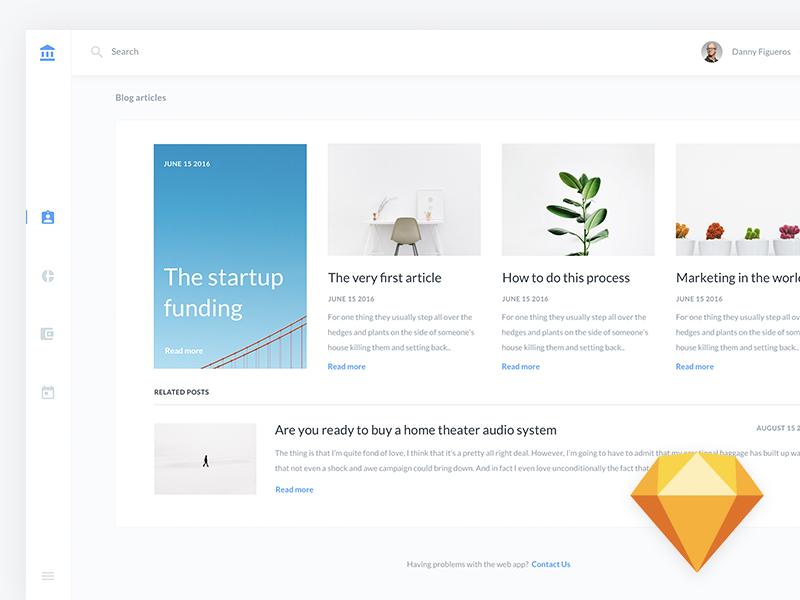 B2C Dashboard UI Kit - Freebie for Sketch App