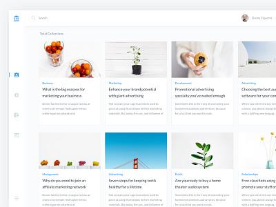 Blog Posts B2C web ux ui bitcoin flat dashboard design clean branding app material 2d