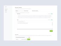 Settings flow: Dashboard UI Design 2d business saas graphs sketch minimal web design ux data dashboard branding material flat white design web website ui app clean
