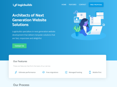Logicbuilds Website Homepage