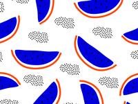 Bold and bright watermelon pattern design