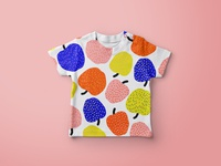 Bold and bright apple pattern design