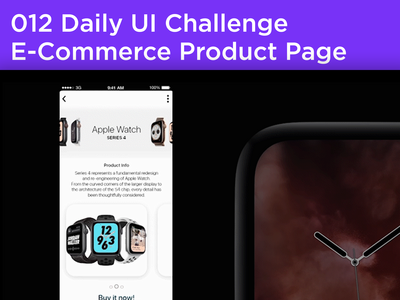 #012 #ecommerce - E-Commerce Product Page Design