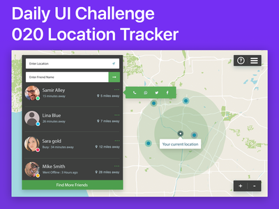 #020 #LocationTracker - A Friend location finder map design