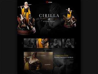 Cirilla and Kitsune figure